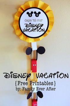 Fun printable countdowns for Disney World