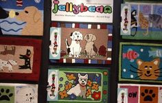 Floor mats with fun pet patterns! I saw these at #GlobalPetExpo and fell in love!!!