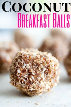 Coconut Breakfast Balls recipe. Easy and healthy breakfast or snack! This can easily be made to fit paleo, raw or gluten free lifestyles. | The Bewitchin' Kitchen