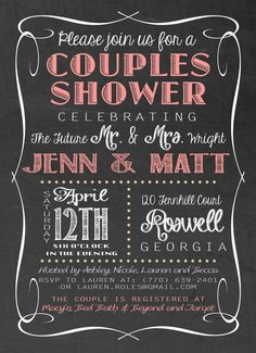 Printable Wedding Shower Invitation by KADdesignsforlove on Etsy, $18.00