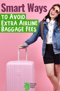 Smart Ways to Avoid Extra Airline Baggage Fees! Why spend several hundred dollars on baggage if you can get it cheaper? We've got some travel tips and tricks to share.and you'll be saving money on your next vacation! Travel Money, Budget Travel, Airline Travel, Money Tips, Money Saving Tips, Saving Ideas, Ways To Travel, Travel Tips, Best Travel Deals