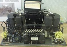 Type-x machine that Honey uses in the Decoding Room of Hut 6 Radios, Enigma Machine, Bletchley Park, British Armed Forces, Paper Tape, Royal Navy, Typewriter, Alan Turing, Decoding