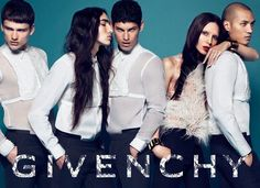 Lea T (second from right) in the Givenchy AW10 campaign