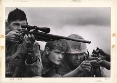 Photographer David Douglas Duncan captures U.S. Marines in action during the Battle of Khe Sanh, February 1968.