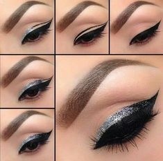 black & silver eyeliner tutorial