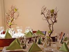 Not a great picture, but love the idea of using branches as both your centre pieces and aisle decor for weddings