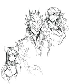 namanari:  Your hopes have become my burden.   I will find my own liberation.  Shirow Miwa RWBY manga sketch#WoOF