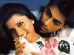 """""""Maine Pyar Kiya"""" (released in basically established romance as a theme in Bollywood. It was so successful, it became India's first movie to be translated into different languages worldwide. Indian Movies Bollywood, Lata Mangeshkar, Song Hindi, Karaoke Songs, Music Online, Music Library, Hindi Movies, Movie List, Salman Khan"""