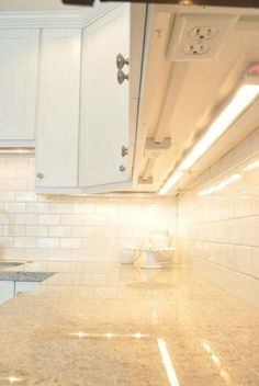 Great idea for outlets in the kitchen