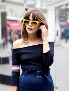 Megan Ellaby in Covent Garden - Street Style