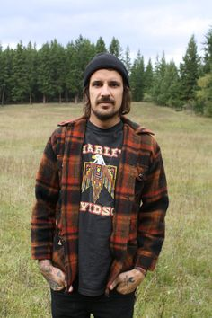 Vintage Men's Plaid Wool Camper Jacket by TumblingDiceVintage