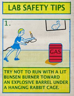Updated Science: Lab Safety Tips Science Geek, Science Jokes, Weird Science, Physical Science, Teaching Science, Science Fun, Teaching Ideas, Funny Commercials, Funny Ads
