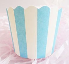 Blue Stripes Baking Cups for Cupcakes & Muffins  Add some colors to your treats with this striped baking cup!