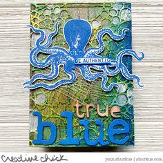 True Blue, Tim Holtz/ Ranger Ink Tutorial | {creative chick} | shurkus.com