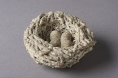 Victorian Petrified Bird's Nest (1800 to 1900 England)