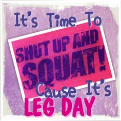 Happy Monday!!!!  It's that day....LEG DAY!!!  I plan on getting my squat on!!!!   I ♥ working the legs!!!   Body Beast Build Legs day 8!   I plan on adding some extra sets 4 x 12 leg extensions  4 x 12 lying leg curls  4 x 16 walking lunges with plates  Giant Set  3 x 10 front squat 3 x 10 hack squat  3 x 10 back squat  finshing with  4 x 20 bridge with plate & 20.mins of plyo HIIT!!!  Walking won't be easy tomorrow!!  #legday #gym #motivation #workout #fitness #fitfam #bodybuilding #fit…