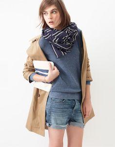 Blue Stripes / Tan