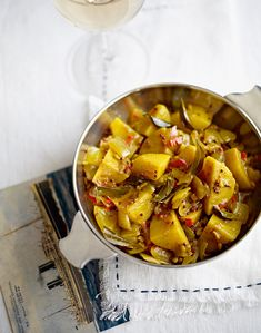 Atul Kochhar's classic Indian Bombay aloo is a fantastic side for curries. Aloo Recipes, Turmeric Recipes, Potato Recipes, Veggie Recipes, Indian Food Recipes, Asian Recipes, Ethnic Recipes, Diwali Recipes, Savoury Recipes