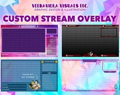Your Home for Custom Twitch Graphics OC & Fan by VeenaVieraVisuals Yu Gi Oh, Twitch Streaming Setup, Twitch Channel, Lchf Diet, Gaming Setup, Graphic Design Illustration, Business Design, Game Room, Design Projects
