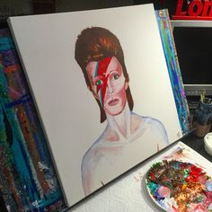 Items similar to David Bowie - 20 x 20 Acrylic on canvas , ready to hang, by Michael H. Prosper on Etsy Paintings I Love, Love Painting, Paintings For Sale, Painting & Drawing, Original Art, Original Paintings, David Bowie, Custom Paint, Cool Artwork