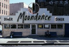 Moondance diner- NYC Where monica works on friends Diner Nyc, American Diner, Small Towns, Wyoming, Vintage Photos, Holland, New York, City, Classic