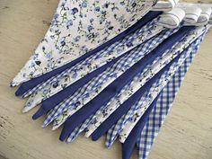 Wedding Bunting Royal Blue Gingham & Floral Vintage by DandyLane, £18.00