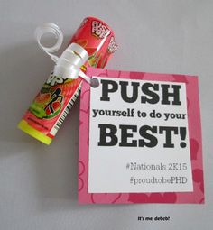 Pop Motivator This Push Pop Motivator is easy to make. It's perfect for dance, cheer or any team sport- It's me, debcb!This Push Pop Motivator is easy to make. It's perfect for dance, cheer or any team sport- It's me, debcb! Swim Team Gifts, Cheer Team Gifts, Dance Team Gifts, Cheer Coaches, Cheerleading Gifts, Volleyball Gifts, Cheer Mom, Cheer Stuff, Volleyball Team Gifts