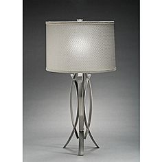 @Overstock.com - Aztec Lighting Contemporary 1-light Table Lamp in Brushed Nickel - Bring a functional piece of artwork into your home with this contemporary one-light table lamp from Aztec Lighting. The curved design features a brushed-nickel finish and contrasting simple white linen shade that will brighten your modern room.  http://www.overstock.com/Home-Garden/Aztec-Lighting-Contemporary-1-light-Table-Lamp-in-Brushed-Nickel/6581147/product.html?CID=214117 $67.99