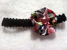 Unique handmade black sequin headband with by HairFlairLady, $7.00