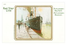 Red Star Line postcard by Henri Cassiers | by totallymystified