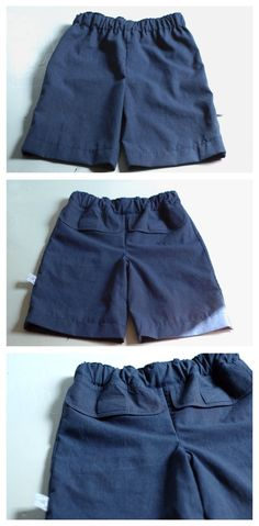 boys shorts from men's shirt