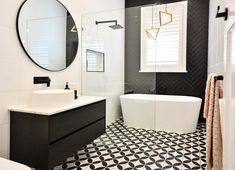 Modern monochrome bathroom with wet room. Modern monochrome bathroom with wet room. Wet Room Bathroom, Bathroom Layout, Bathroom Interior, Modern Bathroom, Master Bathroom, Bathroom Inspo, Washroom, Beautiful Bathrooms, Bathroom Goals