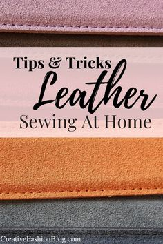 Learn the basics of sewing leather with these 10 simple tricks and hacks on how to sew leather at home with a standard sewing machine. Sewing Leather, Leather Crafting, Circle Purse, Egg Carton Crafts, Leather Factory, Leather Gifts, Leather Case, Sewing To Sell, Tandy Leather