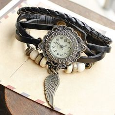 Section of Folk Style Ladies Watch Students Creative Fashion Lovers Watch Women Watch Black DC23TB $23.00