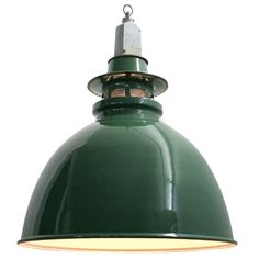 Croston (20 Pieces) | British Green Industrial Pendants | From a unique…