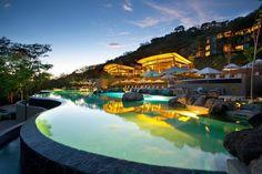 Andaz Peninsula Papagayo Resort  - Hyatt Resort Category 4 (can use Hyatt Visa anniversary nights), 15,000 Hyatt points a night.  JetBlue or Southwest from Charlotte