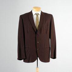 Mens Vintage 50s Brown Black Herringbone by StyleandSalvageMen, $85.00