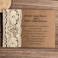 Classic Lace Craft Paper Vintage Wedding Invitation - Paper Lace Wedding Invites - RSVP Card EWLS004 on Etsy, $2.63 AUD
