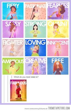 Rapunzel, Tiana, and Merida :)