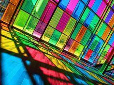 Colourful glass
