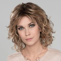Cat Synthetic Wig by Ellen Wille is a curly styled wig with a monofilament crown. Curly Hair With Bangs, Curly Hair Cuts, Curly Bob Hairstyles, Short Curly Hair, Hairstyles With Bangs, Easy Hairstyles, Curly Hair Styles, Hair Trends, Success