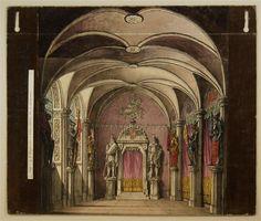 Rittersaal - Hintergrund Nr. 9. [Neue Ausgabe] / Kerker - Hintergrund Nr. 11 [Neue Ausgabe]
