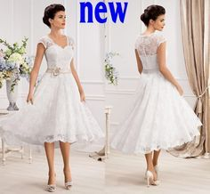 Wholesale cheap lace wedding dress online, 2014 spring summer - Find best plus size lace wedding dresses short cheap 2015 new cheap v neck cap sleeve beach garden spring tea length bridal gowns at discount prices from Chinese a-Line wedding dresses supplier on DHgate.com.