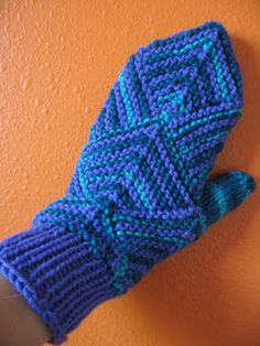 Try these knit mitered mittens in Tweed Stripes for fun color gradients.  Pattern by Fibermania.