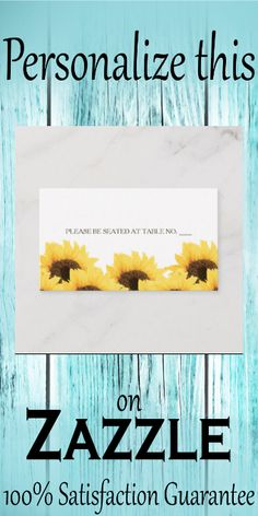 CORAL RUSTIC SUNFLOWER SEATING PLACE CARD #fall #birthday #partysupplies #partyfavors #custom #personalize Informal Weddings, Ribbon Banner, Fall Birthday, Printed Ribbon, Standard Business Card Size, Event Organization, Egg Shells, Floral Flowers, Paper Texture