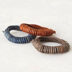 Leather Coil Bracelet