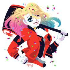 Harley Quinn - http://inkydandy.tumblr.com/post/157928261722/gotham-city-sirens-i-dont-often-get-to-work-in