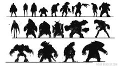 character silhouette thumbnails