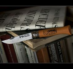 Opinel 6 Carbon. For emergency cheese-monger or famers' market visits.