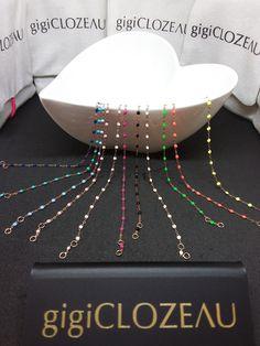 Bracelets colorés en or rose GIGI CLOZEAU chez Catteau Joaillier à Perpignan